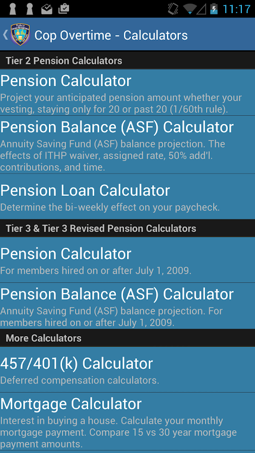 Cop Overtime With Backup Android Apps on Google Play – Overtime Calculator