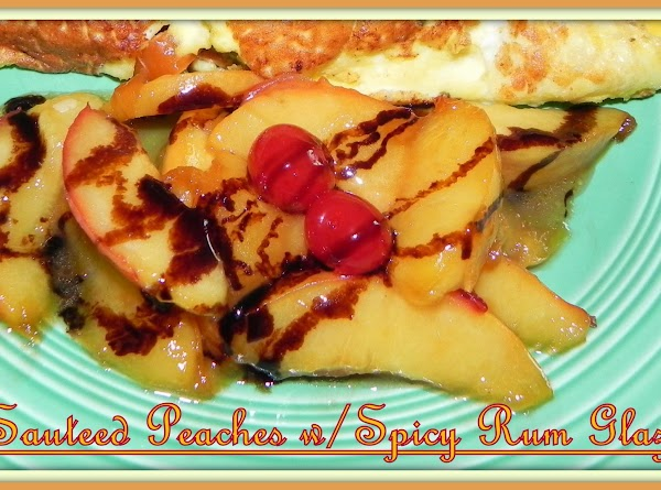 Melt a tbsp. or two in a pan and begin to sauté your peaches....
