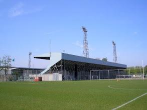 Photo: De achterkant van de Noord-tribune (Zuiderpark stadion).