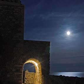 Moon and lines by Elias Spiliotis - Buildings & Architecture Public & Historical (  )
