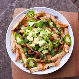 The BEST healthy vegan Chili Cheese Fries
