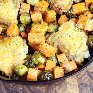 One Pot Roasted Rosemary Chicken with Fall Vegetables
