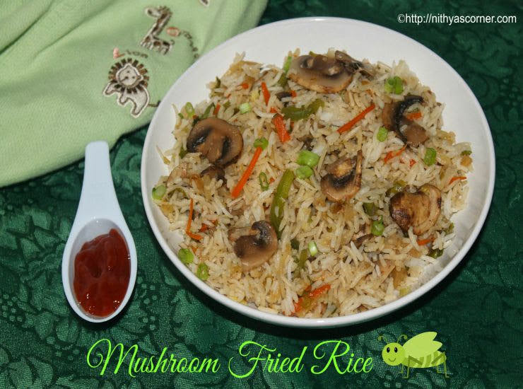 Mushroom fried rice recipe with picitures