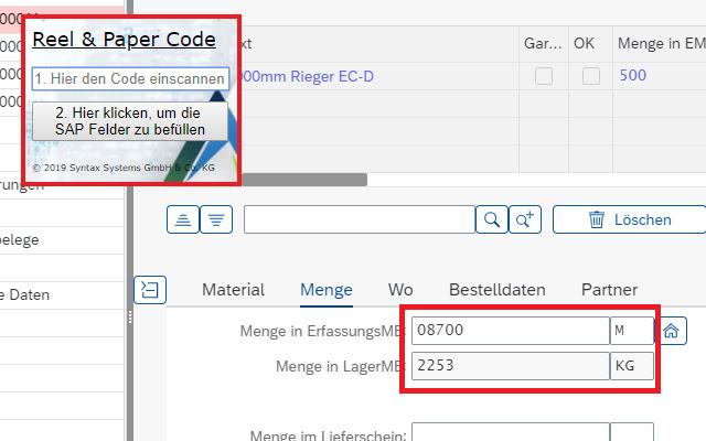 Syntax: Reel&Paper Code Scanner