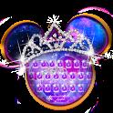 Galaxy Minnie Bowknot Typewriter Theme icon