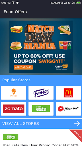 Best Food Offers, Coupons & Promo Code screenshot 1