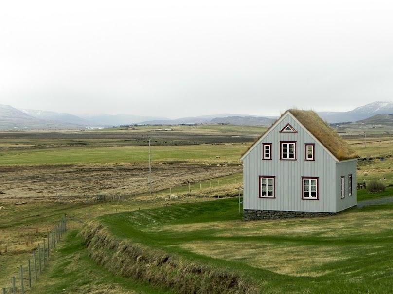 Ekologiczny dom z zielonym dachem
