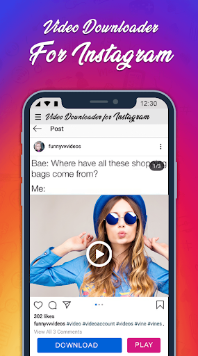 InstaSaver Photo & Video Downloader for Instagram 1.4.0 screenshots 1