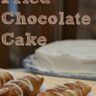 Fried Chocolate Cake Egg Rolls
