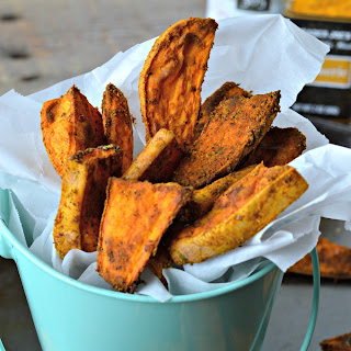 Cinnamon Turmeric Sweet Potatoes Fries