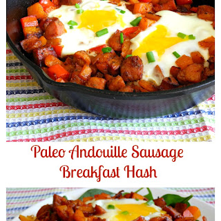 Spicy Paleo Andouille Sausage Breakfast Hash