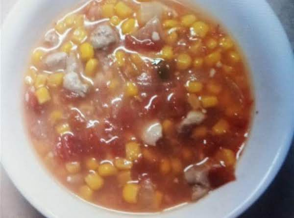 Delicious Cajun Style Corn Soup
