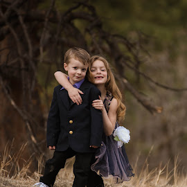 February in Colorado ... Siblings in their backyard by Kellie Jones - Babies & Children Children Candids