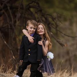 February in Colorado ... Siblings in their backyard by Kellie Jones - Babies & Children Children Candids
