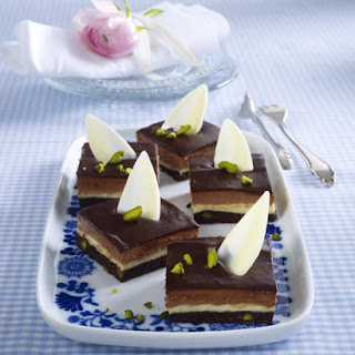 Chocolate, Vanilla and Pistachio Bars