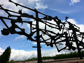 Photo: Memorial sculpture funded by survivors & the families of people who were killed here.