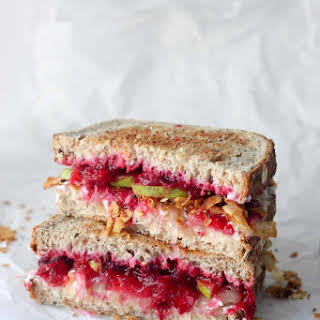 Cranberry Pear Grilled Cheese Sandwich.