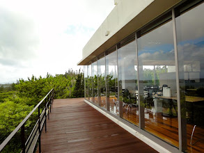 Photo: The seminar room at Okinawa Institute of Science and Technology (Seaside House).