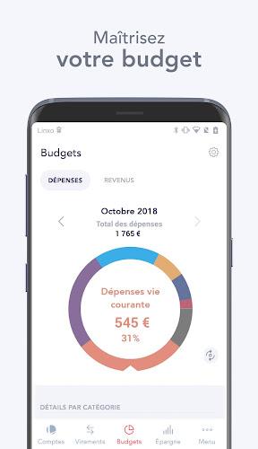 Linxo - mon budget, ma banque Android App Screenshot