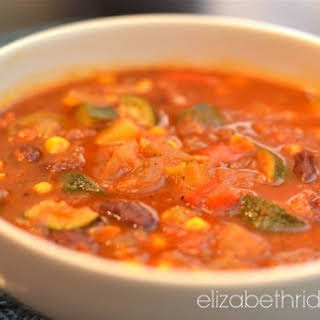 Easy Spring Vegetarian Chili Soup.