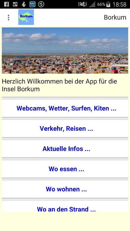 Borkum App- screenshot