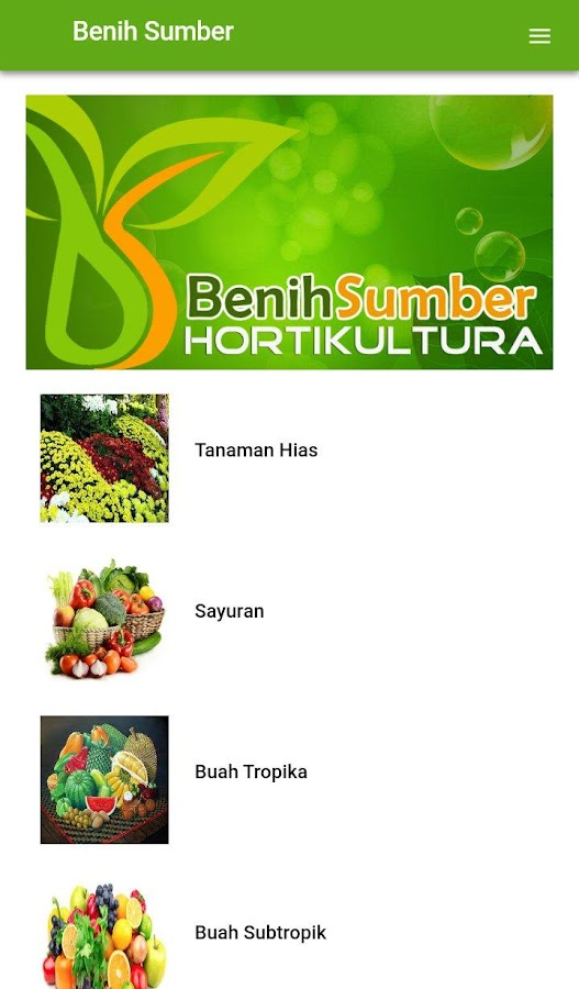 Benih Hortikultura- screenshot