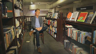 Photo: JFM interviewed in a bookstore before a tour stop.