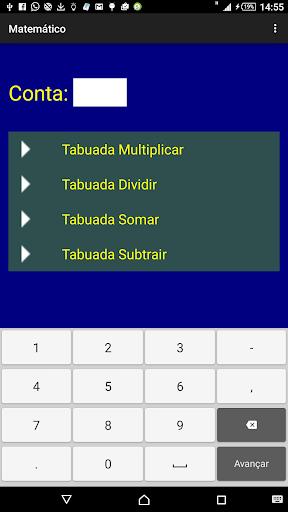 Matemático Tabuadas