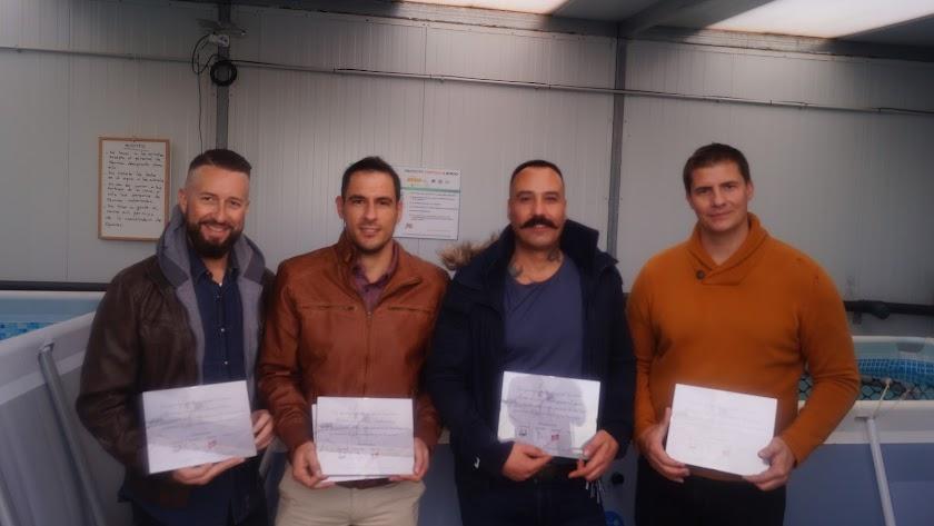 Los agentes  Antonio, Rubén, Francisco y Antonio José, 4 de los 5 premiados.