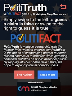 PolitiTruth: A PolitiFact Game- screenshot thumbnail