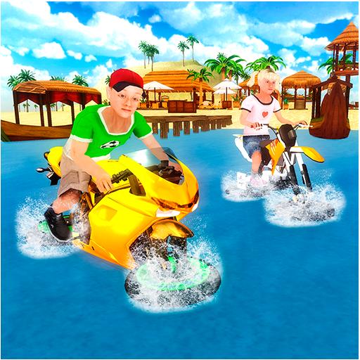 Kids Water Surfer Bike Rider