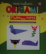 Photo: Origami : Fun with Paper Early Learner Publications 2003 16 pp softcover  ISBN 9832730384   Rooster, Jewel Box, Lady Bug, Ribbon, Tortoise, Frog, Stork, Batmask, Bell Flower, Japanese Man, Crown, Chair & Table, Fox Head (Opening & closing its mouth), Elephant, & Santa Claus