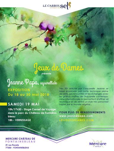 jeanne PAPA _expo Hotel Mercure Fontainebleau_JEUX DE DAMES