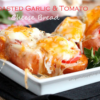 Roasted Garlic and Tomato Cheese Bread.