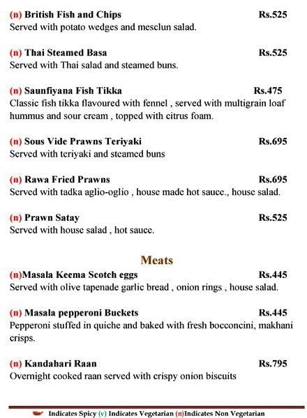 Culinaria menu 2