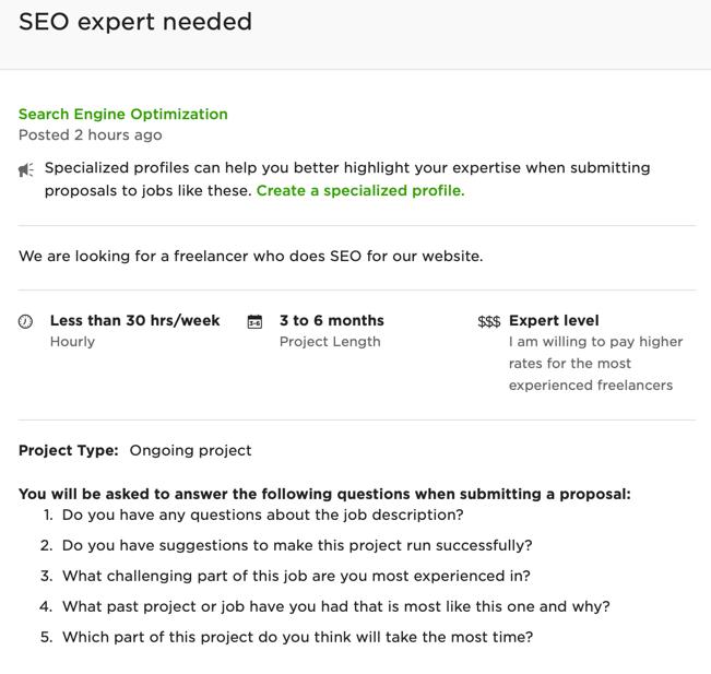general freelancer job description