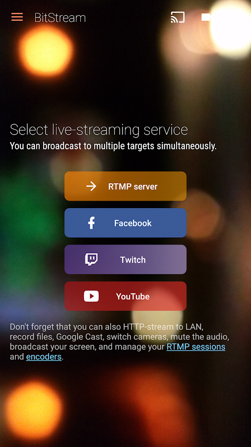 BitStream: Live streaming- screenshot