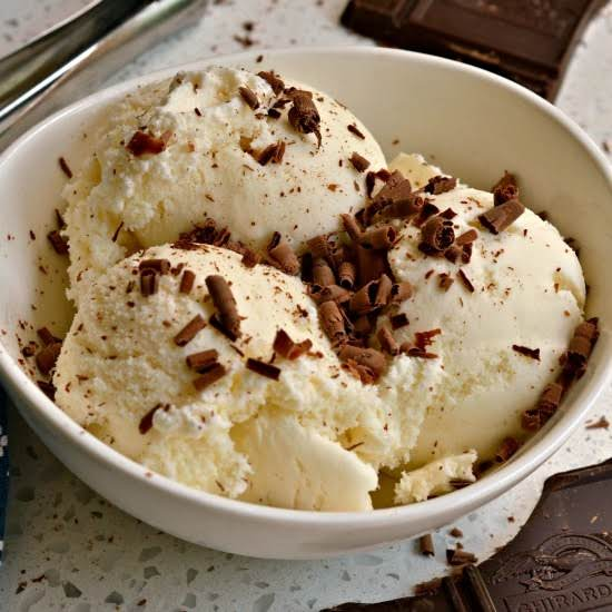 This Smooth And Creamy Rich Vanilla Ice Cream Takes Less Than Five Minutes To Prepare For The Ice Cream Maker.  It Has No Artificial Ingredients And Is Made With Only Wholesome Natural Ingredients.  Be Sure To Read The Section On Recipe Variations.