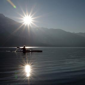 Bohinj lake by Donat Piber - Landscapes Mountains & Hills ( sunset, lake, bohinj )