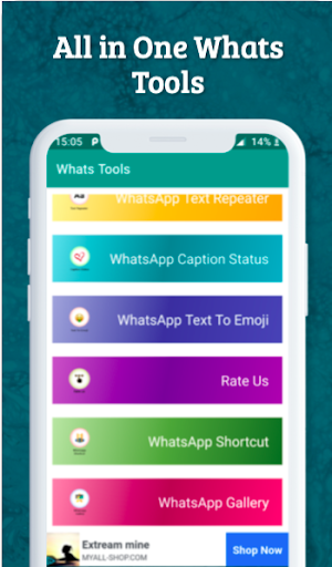 Whats Tools For Watsapp-Status Saver,Instant Chat 1.6 screenshots 8
