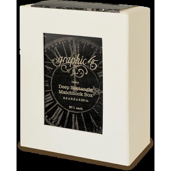 Deep Rectangle Matchbook Box—Ivory