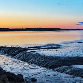 Tides Out Sunset by Patricia Phillips - Landscapes Sunsets & Sunrises ( alaska anchorage sunset low- tide )