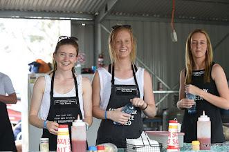 Photo: volunteer workers in the 'kitchen'