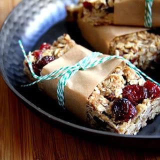 Cinnamon Cranberry Walnut Granola Bars