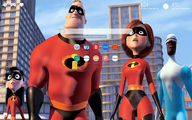 The Incredibles 2 HD Themes New Tab
