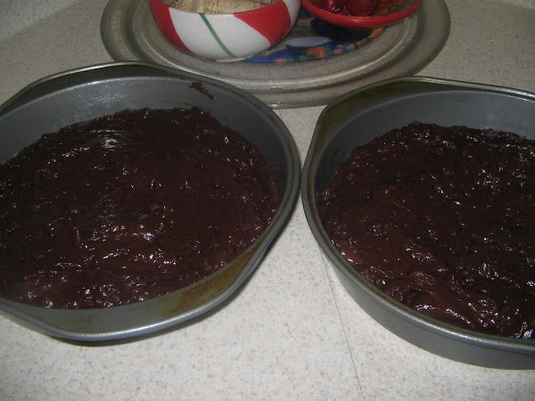 Bake for 25 minutes. Check with toothpick. Cool in pans for 2 minutes. Loosen...