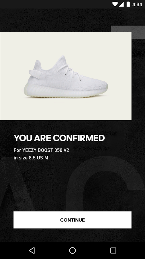 adidas Confirmed- screenshot