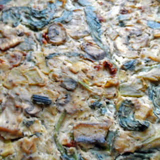 Mushroom Spinach Quiche with Smoked Tofu
