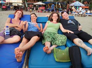 Photo: sundowners on kuta beach