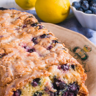 Vegan Blueberry Lemon Yogurt Cake.